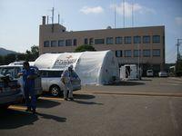 仮設の病院