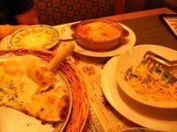4種のチーズのピザ、鮭とほうれん草のクリームパスタ、ラザニア